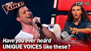 Incredibly UNIQUE VOICES on The Voice   TOP 10