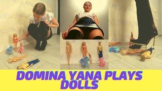 👣 DOMINA YANA PLAYS DOLLS  / NYLON / PANTYHOSE / CRUSH / RUSSIAN GIRL / TOY / BOOTS / HIGH HEEL