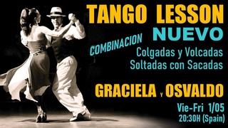 15º LIVE TANGO LESSON Clase de Tango LA YUMBA como bailar Nuevo New Age Soltadas Colgadas Volcadas